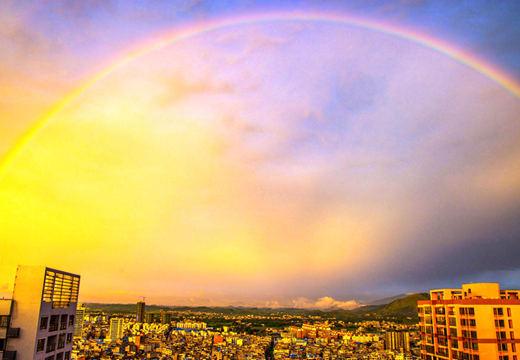 广西横县雨后晚霞绚烂 喜迎六月